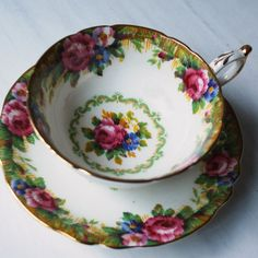 Paragon Tapestry Rose Teacup and Saucer, Vintage Tea Cup