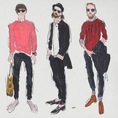 STYLE SPOTTER | Antwerp – illustrator Mr Richard Haines sketches the best-dressed men of Belgium's fashion capital for MR PORTER. Head to The Journal to see more: http://mr-p.co/P532Ig