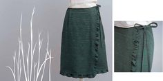 Wrap Skirt with Frilled Edge from Stylish Skirts + Giveaway! | Sew Mama Sew |