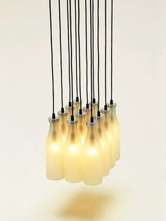 droog milk bottle chandalier