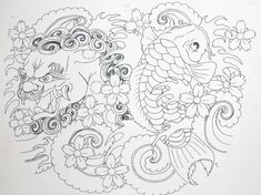 Design & Color test for a Japanese-inspired tattoo design for a new character. The cherry blossoms in the final design will be carried over into the entire tattoo and not just in the left arm s...