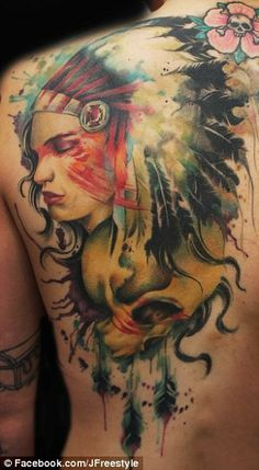 Native American inspired tattoo by Jay Freestyle - Native American Tattoo Designs Freehand Tattoos, Freehand Inked, Grey Freehand, Freehand Tattooing, Freehand Up Tattoos, Body Art Tattoos, Sleeve Tattoos, Tattoo Ink, Ribbon Tattoos, Wrist Tattoo, Lion Tattoo, Native American Tattoos, Native Tattoos