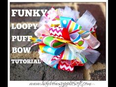 Funky Loopy Puff Bow Tutorial - Hairbow Supplies, Etc. - YouTube