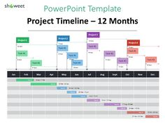 Example of Project Timeline template for PowerPoint