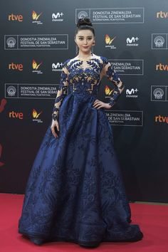 Fan Bingbing wore a #ZuhairMurad Fall 2016 Couture jacquard tattoo gown to the #LaFilleDeBrest #SSIFF64 premiere. The Fashion Court (@TheFashionCourt) | Twitter