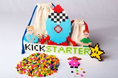 The team's working hard on special features for our Kickstarter campaign. Special rewards available at www.simbrix.com #Kickstarter #pixelart #toy #perlerbeads #perlerart #fun