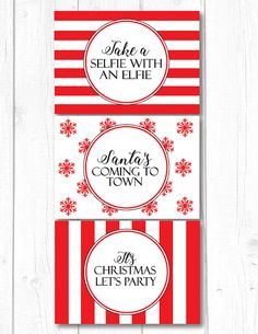 Elf Notes Christmas Elf Notes Take A Selfie With by PapierCouture1