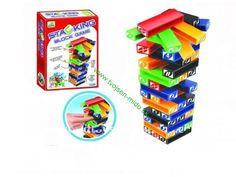 Hra veža Jenga , farebná plastová