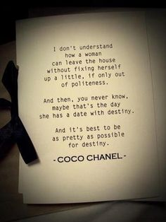 Elan Style Coco Chanel Quote