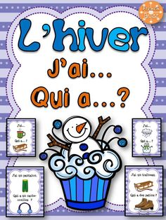 """L'hiver - jeu amusant """"j'ai... qui a...?"""". 2 versions sont offertes: avec ou sans les mots. French Education, Education And Literacy, Teaching French Immersion, French Songs, French Kids, Core French, French Christmas, French Classroom, French Resources"""