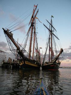 privateers of 1812; Pride of Baltimore II and Lynx; downrigging 2010 - Swordwhale Walking: illustration, stories, photojourneys, videos