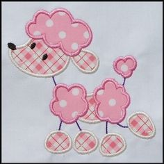 Stick Poodle Applique designs 3 sizes