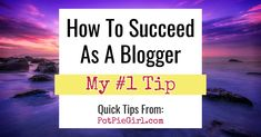How to succeed as a blogger - blogging success tips Make Money Blogging, Make Money From Home, How To Make Money, Content Marketing, Affiliate Marketing, Blogger Tips, Blogging For Beginners, Mom Blogs, Pinterest Marketing