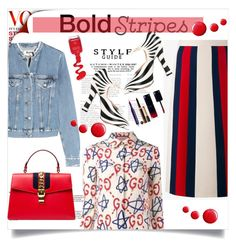 """""""Big, Bold Stripes"""" by lidia-solymosi ❤ liked on Polyvore featuring Acne Studios, Gucci, Topshop and BoldStripes"""