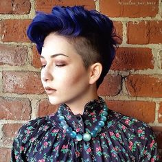 STYLIST SPOTLIGHT: an awesome balance of soft and hard | styled by @shondabroadus  #hair #hairinspiration #hairstylist #haircut #pixiecut #shavedhead #cosmetologist #colorist #bluehair #americansalon #behindthechair #trialsntresses #curlbox #styleseat #style #beauty #inspo #instalove #beauty