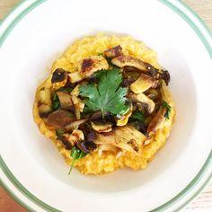 Pompoen & Pastinaak puree met gebakken Paddestoelen - Hungry For Healthy Food