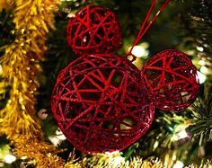 disney christmas tree Mickey Mouse Ornament - dead link Idea - paint balls and glue together Mickey Mouse Christmas Tree, Mickey Mouse Ornaments, Mickey Mouse Wreath, Disney Christmas Decorations, Xmas Ornaments, Christmas Holidays, Christmas Crafts, Minnie Mouse, Christmas Ideas