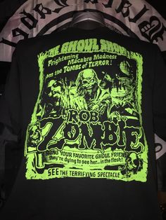 Rob+Zombie+The+Ghoul+Show+t-shirt+RARE+BRAND+NEW+Rock+Metal+Punk+Emo