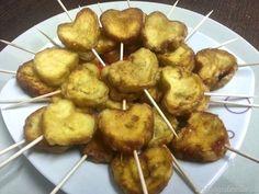 Piruletas de berenjenas en tempura