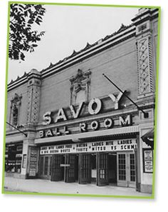 Savoy Ballroom, Harlem built in late and popular stage for artists such as Ella Fitzgerald