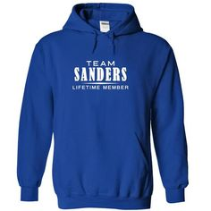 Team SANDERS, Lifetime member - #cozy sweater #sweater diy. LIMITED TIME PRICE => https://www.sunfrog.com/Names/Team-SANDERS-Lifetime-member-gsvhcylfif-RoyalBlue-18252443-Hoodie.html?68278