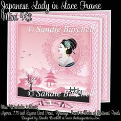 Japanese Lady in Lace Frame Mini Kit : The Designer Twins ...where creativity encounters quality and value