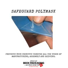 Safeguard Polymask protects fragile surfaces during assembly and shipment. Call us today to see if Polymask is a good fit for your packaging needs! 1.800.722.2325 http://www.beckpackaging.com/ #BeckPackaging #BeckSolutions #MachineMatchmakers