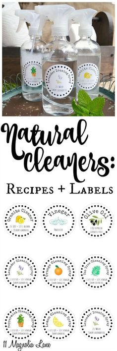 Homemade Cleaners Recipes Will Save You $$$ Lots Pinnable Charts Homemade Cleaning Products, House Cleaning Tips, Natural Cleaning Products, Spring Cleaning, Cleaning Hacks, Cleaning Supplies, Cleaning Wood, Bathroom Cleaning, Natural Products