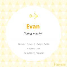 Baby Name: Evan