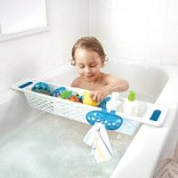The handy Munchkin Secure Grip Bath Caddy keeps all your little ones bath toys and essentials neatly organized and accessible. Extends across the tub with Xtra Grip handles for added stability. Toys R Us, Kids Toys, Baby George, Bath Toys, Kids Bath, Asda, Toy Storage, Storage Ideas, Baby Play