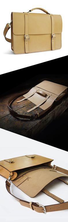 basader handmade leather messenger.