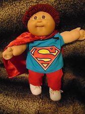 Cabbage Patch Kids 1984 Vintage Boy Doll/Superman Outfit/Cape/Shoes/Free Ship
