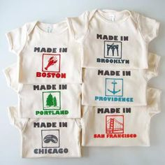 Made inYOUR CITY onesie pick your place and size by eggagogo