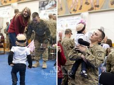 Showing Daddy for the first time she can walk the day he came home after a year long deployment. Proud daddy. This is priceless - homecoming shows always make me weepy!