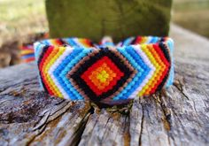 Indian Sunset Friendship Bracelet by PEACEdTogether1 on Etsy, $16.00