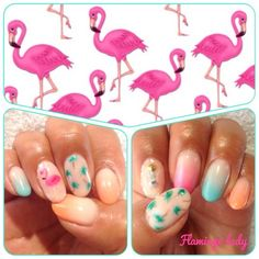 flamingo nail art Miami