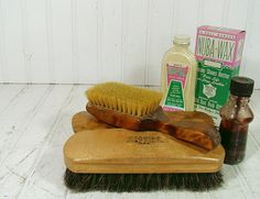 Vintage Shoe Shine Collection  5 Piece Set of by DivineOrders, $22.00