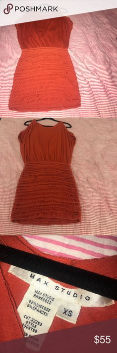 Burnt orange dress 🍊 Max studio orange dress great for the fall season Max Studio Dresses