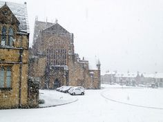 The dark cold winter days are back... and the white nights where snow reigns in silence...    (Snow falls at Sherborne Abbey in Dorset - Picture: Liz Burt/BNPS)    5 November 2012