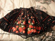 Metamorphose temps de fille / Skirt / Berry Stripe Frill Skirt