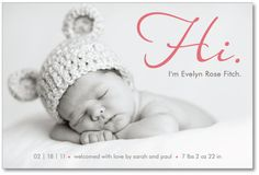 baby girl or boy photo birth announcement