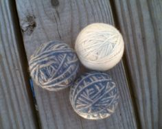 Handmade Felted Wool Dryer Balls Set of 3 by CellDara on Etsy, $18.00