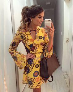 {Do dia } De @murauoficial Vestido estampado básico para um dia corrido! • #lookdodia #lookoftheday #ootd #selfie #blogtrendalert