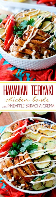 Grilled Hawaiian Teriyaki Chicken Bowls