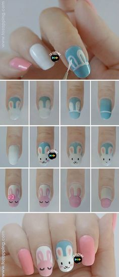 40 Lovely Valentines Day Nail Art Designs 2019 - Last Trendy Easter Nail Designs, Easter Nail Art, Simple Nail Art Designs, Trendy Nail Art, Nail Art Diy, Nails For Kids, Manicure E Pedicure, Nagel Gel, Simple Nails