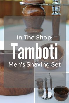 The second shaving set I've made and this time, it's from one block of Tamboti wood.   #woodworking #woodturning #shaving #razor #shavingbrush
