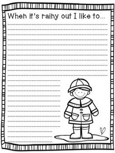 Spring Writing Prompts (K-2)   Early finishers, Creative writing ...