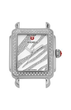 MICHELE 'Deco 16 Diamond' Diamond Dial Watch Case, 29mm x 31mm (Limited Edition) available at #Nordstrom