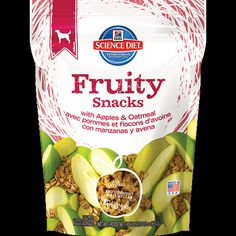 Hills Science Diet Crunchy Fruity Snacks with Apples Oatmeal Dog Treats >>> To view further for this item, visit the image link. Dog Food Recipes, Snack Recipes, Snacks, Dog Food Delivery, Hills Science Diet, Apple Oatmeal, Dried Apples, Dog Biscuits, Dog Treats