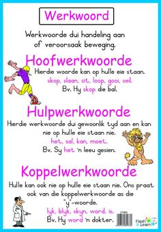 Related image Elementary Education, Kids Education, Preschool Learning, Fun Learning, School Resources, Teaching Resources, Afrikaans Language, Sentence Construction, Parts Of Speech